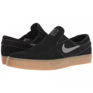 Zoom Stefan Janoski Slip on   Suede Black/GunSmoke/Gum Light Brown