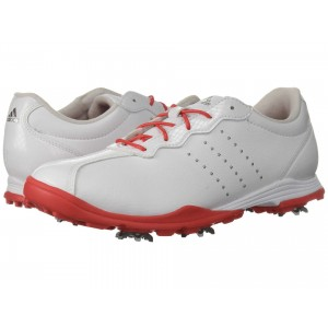 adidas Golf Adipure DC Footwear White/Real Coral/Silver Metallic