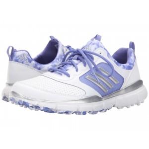 adidas Golf Adistar Sport Ftwr White/Silver Metallic/Baja Blue Tmag