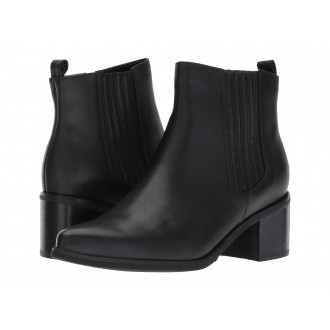 Elvina Waterproof Bootie Black Leather