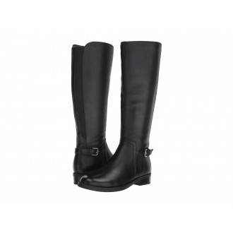 Evie Waterproof Black Leather