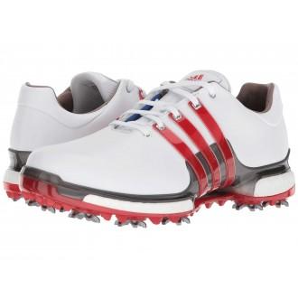 adidas Golf Tour360 2.0 Footwear White/Scarlet/Dark Silver Metallic