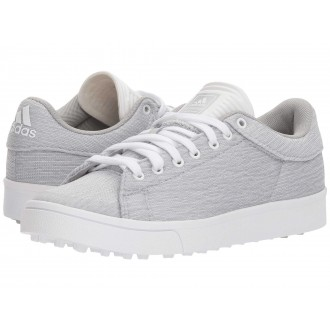 adidas Golf Jr. Adicross Classic (Little Kid/Big Kid) Light Grey Heather/Footwear White/Semi Frozen Yellow