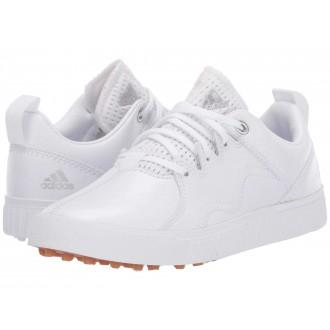 Jr. Adicross PPF (Little Kid/Big Kid) Footwear White/Silver Metallic/Gum