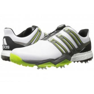 adidas Golf Powerband Boa Boost Ftwr White/Iron Metallic/Solar Slime