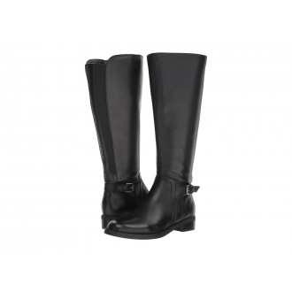 Evie Wide Shaft Boot Waterproof Black Leather