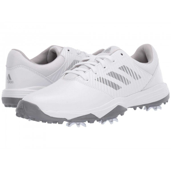 Jr. CP Spiked (Little Kid/Big Kid) Footwear White/Silver Metallic/Grey Two