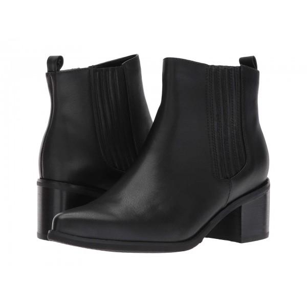 Elvina Waterproof Bootie Black Leather