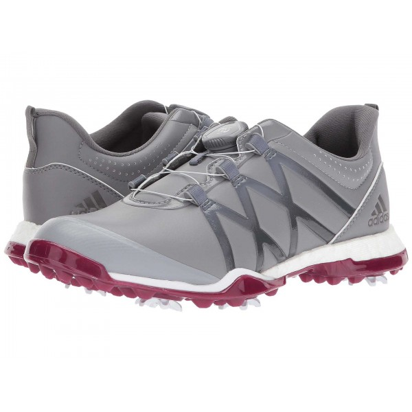 adidas Golf adiPower Boost Boa Grey Three/Grey Four/Mystery Ruby
